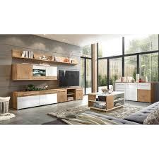 lomadox wohnzimmer set lombardo 61 mega spar set 7 tlg mit sideboard und couchtisch in wotan eiche nb mit weiß hochglanz und hirnholz