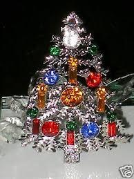 MULTICOLOR CHRISTMAS TREE SWAROVSKI CRYSTAL PIN BROOCH