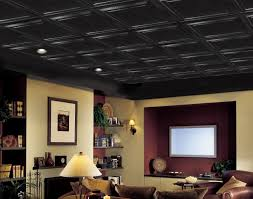 Armstrong Acoustic Ceiling Tiles Black by Basement Ceiling Ideas To Choose Basement Basement Ceiling