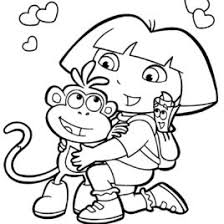 Hello Dora The Explorer Coloring Page