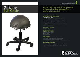 Yoga Ball Desk Chair Benefits by Officino Active Sitting Ball Chair U2013 Ergoport