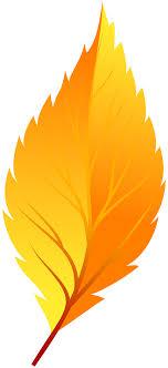 Yellow Autumn Leaf PNG Clip Art