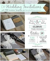 Diy Wedding Invitations With Free Invitation Template Via