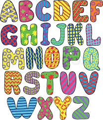 Coloring Pages Printable Alphabets Unique Colored Letters To Print Pattern Flower Zigzag Strips Flowers Square