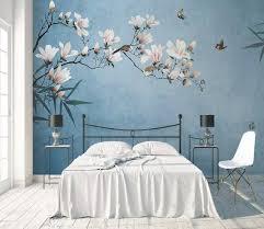 blumentapete vintage blume fototapete magnoli tiny haus