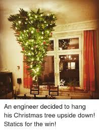 Christmas Tree And An Engineer Decided To Hang His