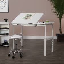 100 Studio Designs 24 X 36 Graphix II White Drafting And Hobby Craft Workstation Table