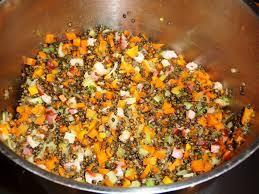 cuisine des lentilles lentilles vertes aux carottes et céleri les recettes de virginie