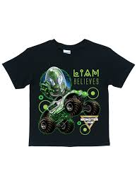 Personalized Monster Jam Alien Invasion Black T-Shirt, Youth, Black ... Rusty Nuts Tshirt Back Alley Wear Monster Truck El Toro Loco Onesie For Sale By Paul Ward Off Road School Mens Black T0f4huafd Toddler Boys Blaze And The Trucks Group Shot Tshirt 2t Ebay Over Bored Merchandise Vintage 80s Dragon Wagon Tag Xl Fits Large Deadstock Kids Rap Attack Thrdown Truck Tshirt Built4bbq Small Cooler Fast Monster Tshirts 1 Gift Ideas Popular Wonderkids Infant 5th Birthday Boy 5 Year Old Christmas