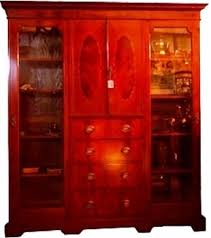 englische schrank vitrine mahagoni wohnzimmer vitrinen schrank