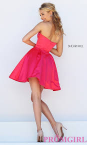 sherri hill short fit and flare dress promgirl
