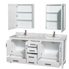 Wyndham Bathroom Vanities Canada by Sheffield 72 Inch Double Sink Bathroom Vanity White Finish Set By