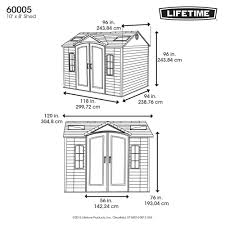 Suncast Tremont Shed 8 X 13 by Lifetime Side Entry 9 Ft 8 In W X 7 Ft 8 In D Plastic Storage
