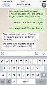 Download WhatsApp Messenger 2 11 14 with iPhone 6 Support