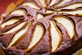 schokoladen mandel tarte mit birnen