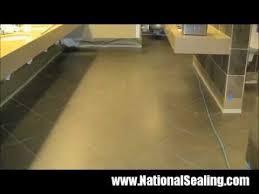 application of anti slip coating to ceramic tile