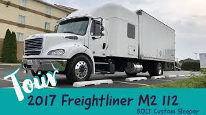 2017 FREIGHTLINER M2 112 BOLT CUSTOM SLEEPER TRUCK TOUR - YouTube