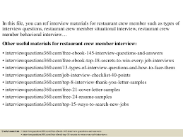 Top 10 Restaurant Crew Member Interview Questions And Answers