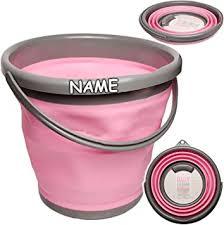10 12 liter eimer rosa pink faltbar klappbar inkl name silikon kunststoff klappeimer wassereimer putzeimer badezimmer küche
