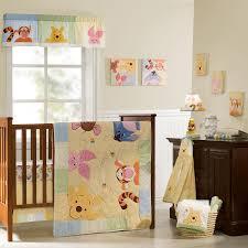 winnie the pooh crib bedding set peeking pooh 7 pc disney baby