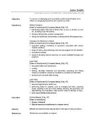 Sample Resume For Caregiver Jobs Example Of Samples