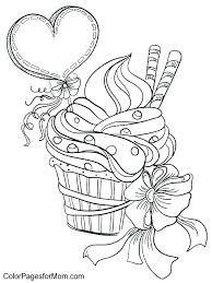 Cupcake Color Pages Birthday Cupcake Coloring Pages Cupcake