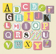 15 Trendy Scrapbook Letters Designs Printable Stickers