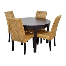 Macys Round Dining Room Sets by 66 Off Macy U0027s U0026 Ikea Round Black Dining Table Set With Four