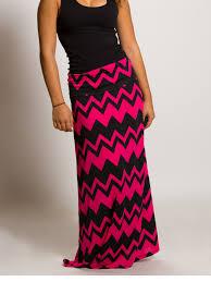 women u0027s pink and black chevron maxi skirt u2013 little miss lorynn