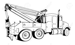 100 Tow Truck Vector Outlined Black Royalty Free Cliparts S And