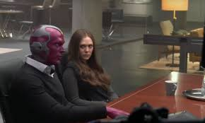 Avengers Infinity War Set Photos Suggest Things Are Finally Heating Up Between Vision Scarlet Witch