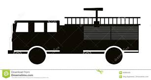 Black And White Fire Truck Flat Design. Vector Illustration. Stock ...