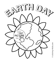 Earth Day Flower Coloring Pages For Kids Printable Free