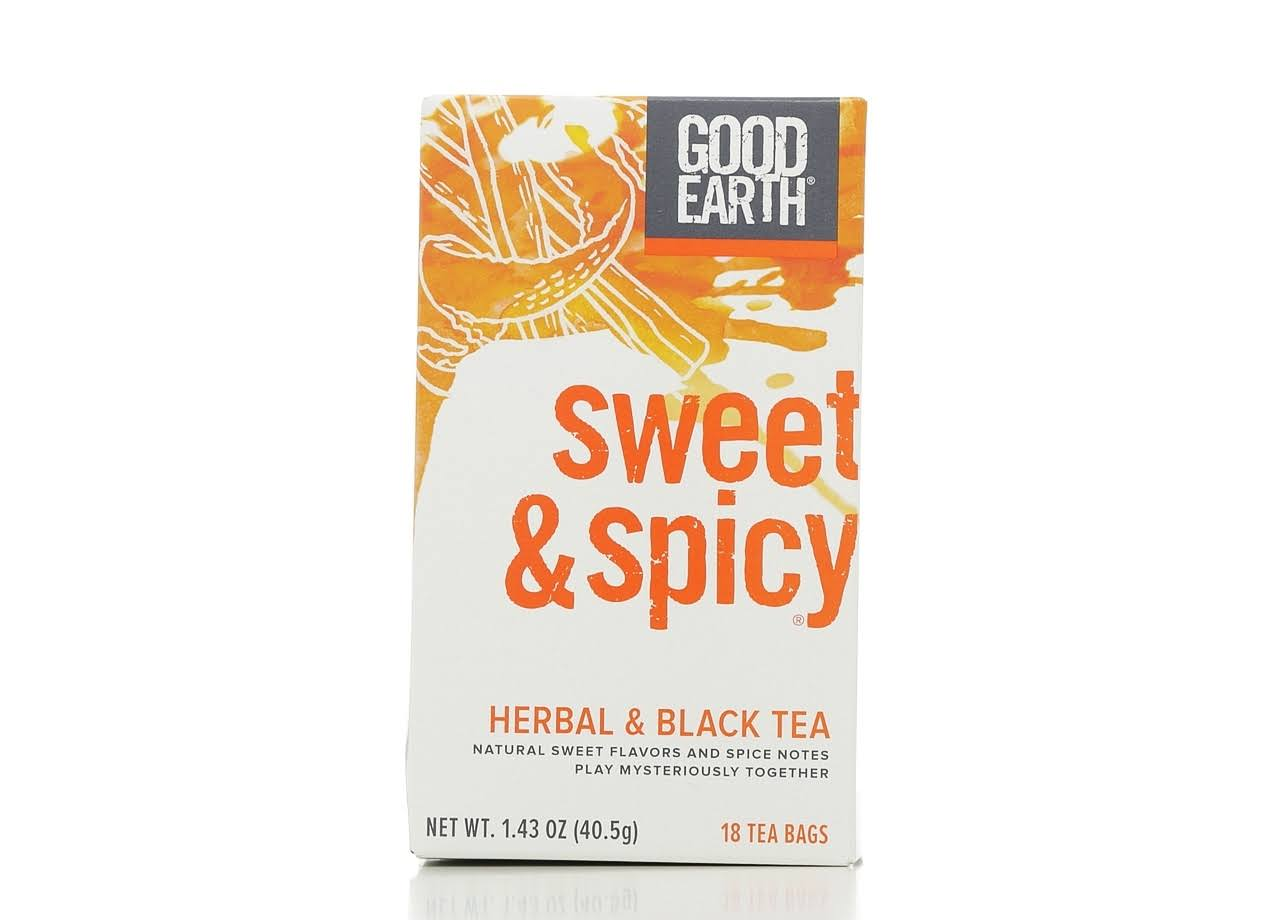 Good Earth Herbal and Black Tea - Sweet and Spicy, 18 Tea Bags