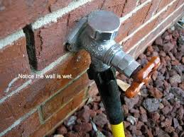 to avoid damage to your home from leaks fix an external dripping