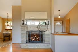 fototapete licht warmen tönen kamin ist eine tolle idee für ihr wohnzimmer