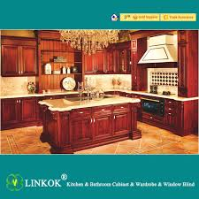 Linkok Furniture American standard modern solid wood kitchen