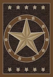 Texas Lone Star Rug Brown