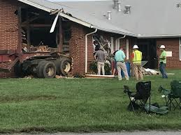 Log Truck Loses Brakes, Hits Lamb's Chapel In Haw River