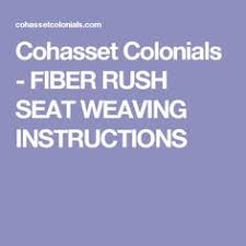 Chair Caning Instructions Youtube by How To Weave A Seat In A Rush Chair Youtube Home Dyi