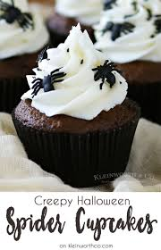 Rice Krispie Halloween Treats Spiders by Creepy Halloween Spider Cupcakes Kleinworth U0026 Co