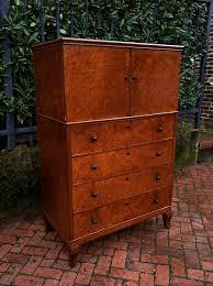 Birdseye Maple Highboy Dresser by Antique 1930s German Teak And Bird U0027s Eye Maple Highboy Dresser