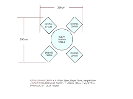 Dining Table Dimensions Circular For 4 Size