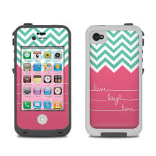 Lifeproof iPhone 4 Case Skin Live Laugh Love by Brooke Boothe
