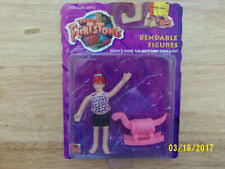 the flintstones bendable figures pebbles mattel tv