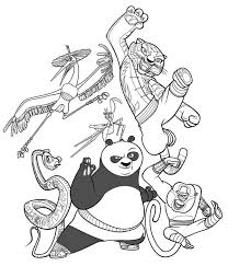 Kung Fu Panda The Legend Of Coloring Page