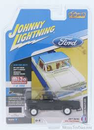 100 Ford Toy Trucks 1959 F250 Pick Up Raven Black Johnny Lightning JLCP700524