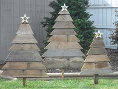 Rustic Christmas Yard Art Handmade Manger Reclaimed Wood