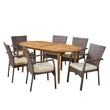 Amazon.com : Great Deal Furniture Stanford Outdoor 7-Piece ... Rattan Ding Chair Set Of 2 Mocka Nz Solid Wood Table Wicker Chairs Garden Table And Chairs 6 Seater Triple Plate Grey Granite Wicker Grosseto Cream Wood Round With 5 In Blandford Forum Dorset Gumtree Teak Driftwood Sunbrella Details About Louis Outdoor 7 Piece Acacia Stacking Shore Coastal Cushion Room Trends Ideas For 20 Hayneedle Sahara 10 Seat Top Kai Setting Sicillian Stone Half Rovicon Saltash Small Extending 4 Amari 1
