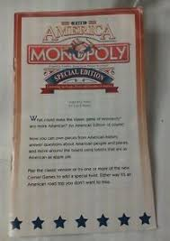 Get Quotations THE AMERICA SPECIAL EDITION MONOPOLY Game Parts Pieces INSTRUCTIONS BOOKLET ONL